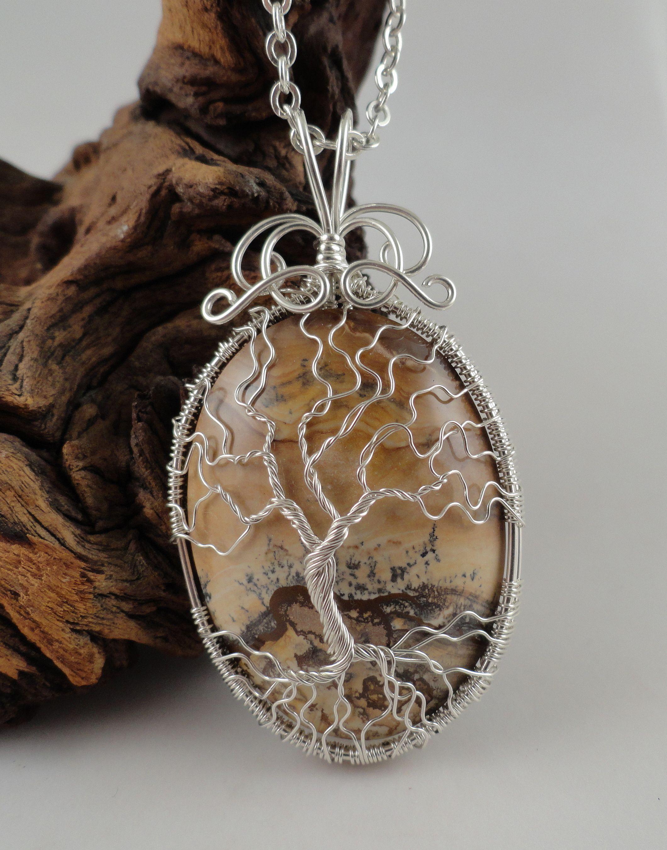 Landscape Jasper in Sterling Silver Pendant