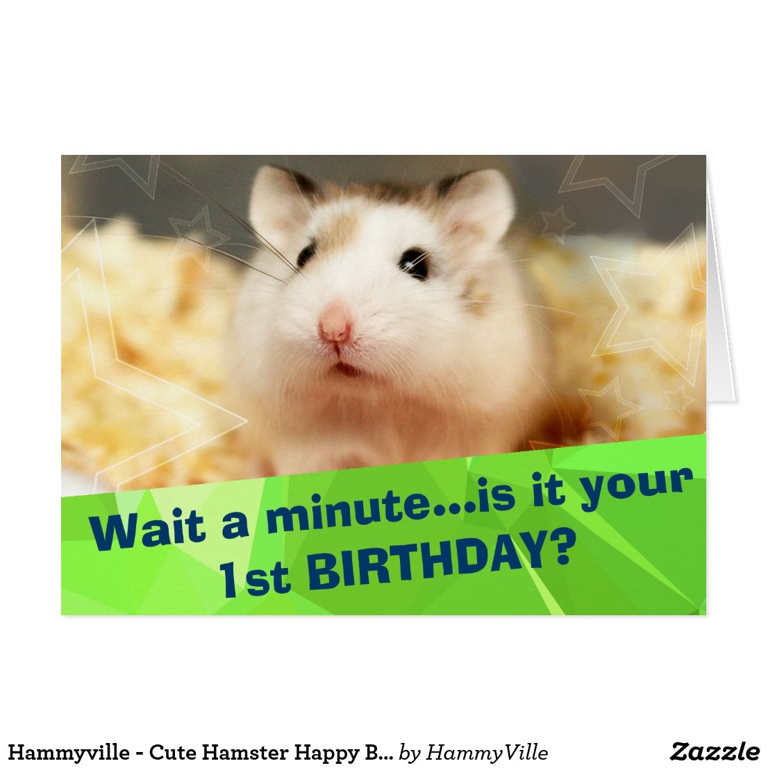 Hammyville Cute Hamster Happy Birthday Card Zazzle Com Cute Hamsters Happy Birthday Cards Birthday Cards