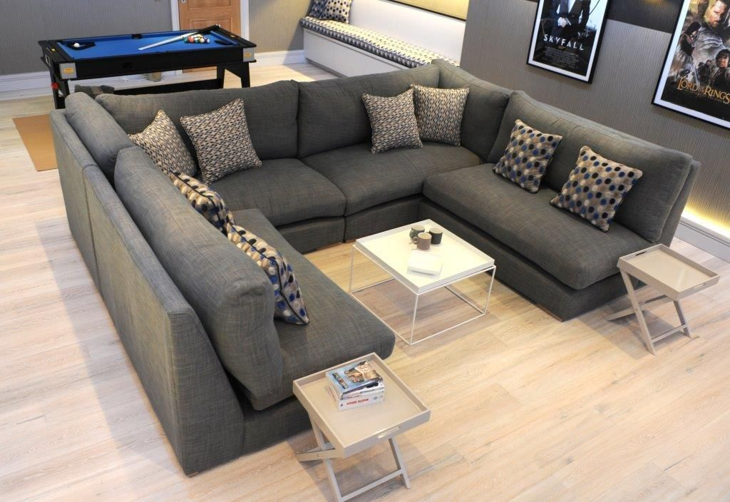 Cinema Room U Shaped Sectional Sofa Perfectly Finishes Off This Really Cool Cinema Room See More U Shaped Sectional Sofa Soft Furniture Cinema Room