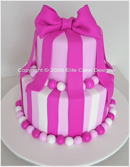 Hot Pink Bow Birthday Cake 21st Cakes Sydney