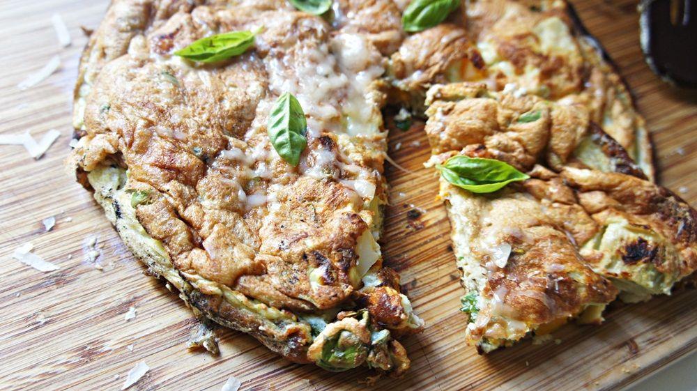 Receita de Omelete Suflê de Alcachofra e Pimentão