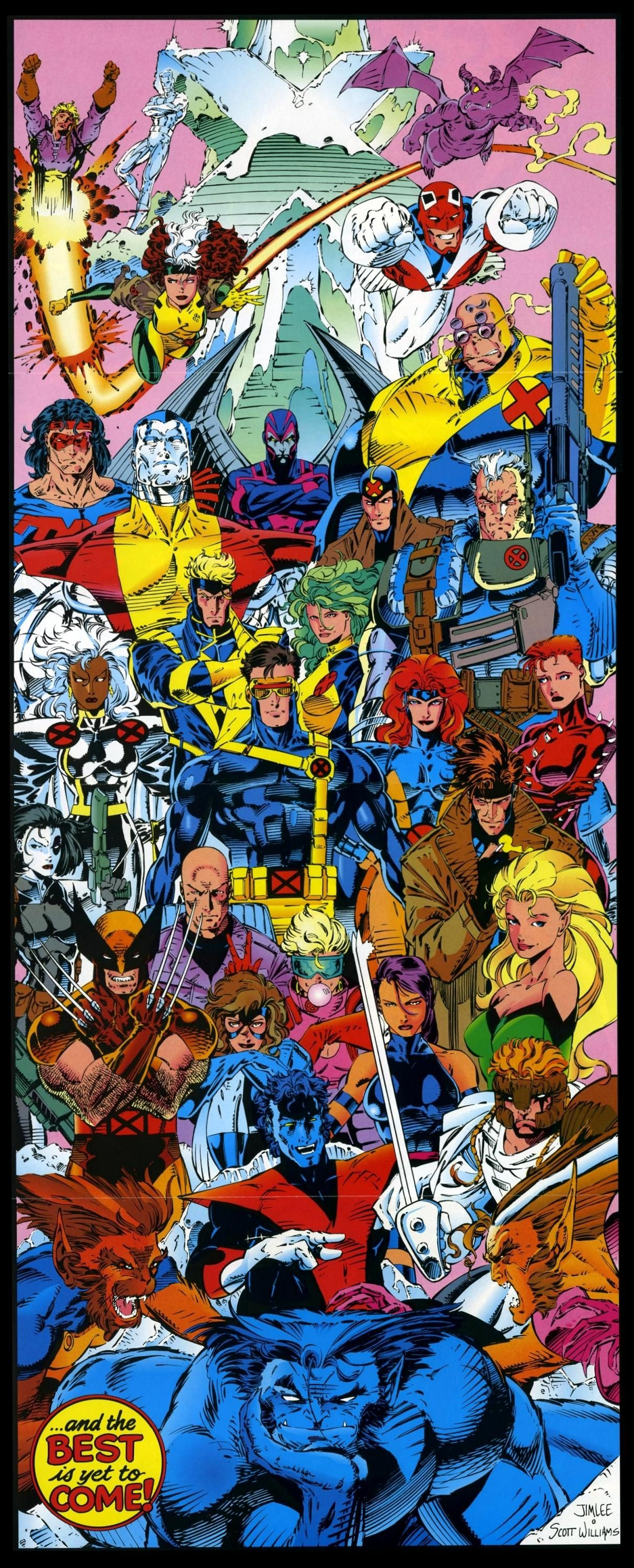 Jim Lee X Men Posters 2 Marvel Art Comics Marvel