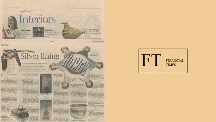 Bodo Sperlein Financial Times Interiors  #FinancialTimes #Interiors #Silver #MexicanSilver #BodoSperlein #Beaker