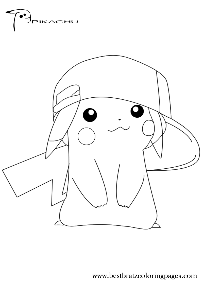 Cute pikachu coloring pages - Free Printable Pikachu Coloring Pages For Kids