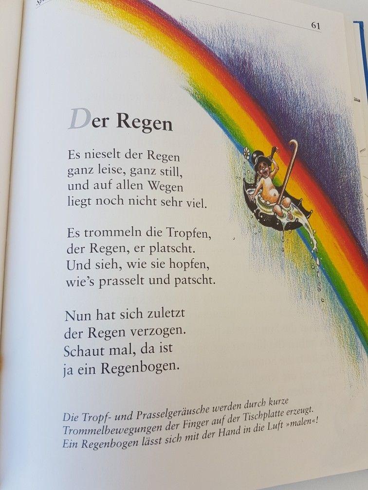 fingerspiel regen regenbogen gedichte lieder