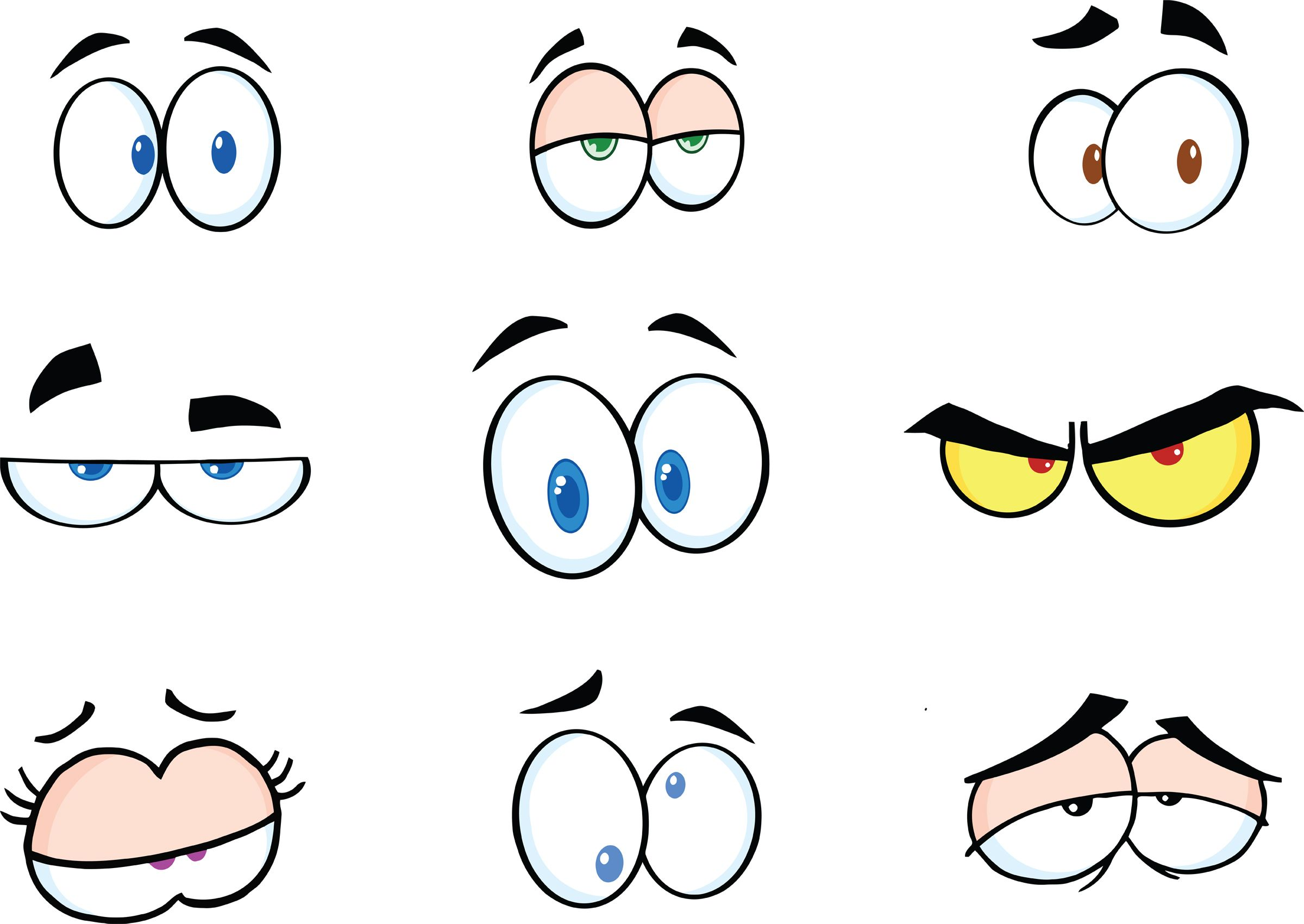 Funny Cartoon Eyes Clipart - Free Clipart | Cartoon ...