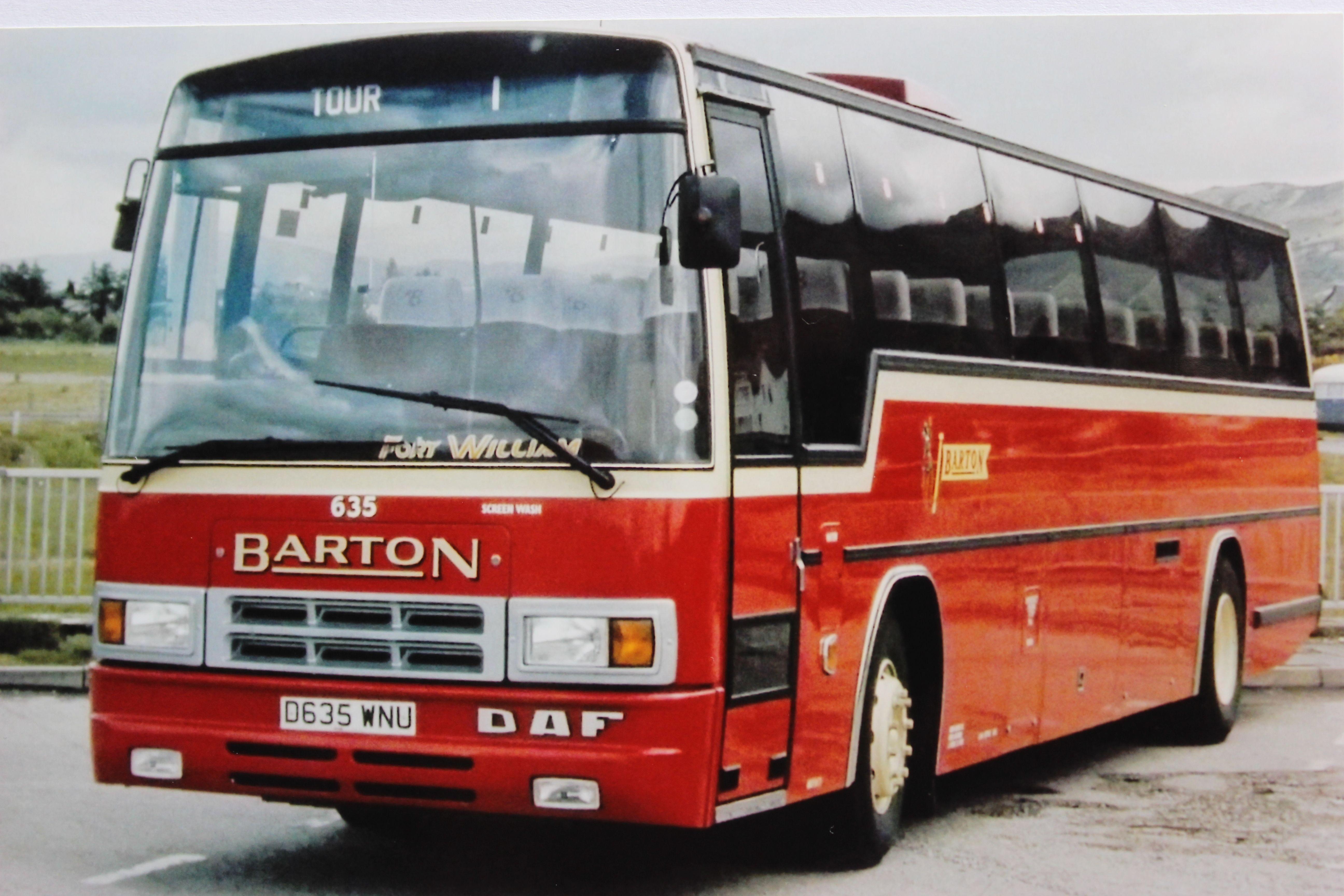 Barton Transport - Plaxton Paramount bodied DAF   Buses ...