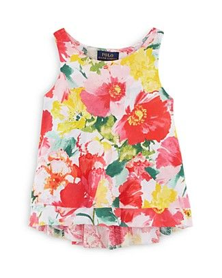 6c6eaeeab Ralph Lauren Girls  Floral Print Tank - Sizes 2-6X