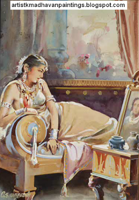 Oviyar K MADHAVAN ( 1906 - 1977 ) One of the Great Indian Artists and One of My Inspiration Artists in South India and Tamil Nadu - Artist Anikartick,Chennai,India