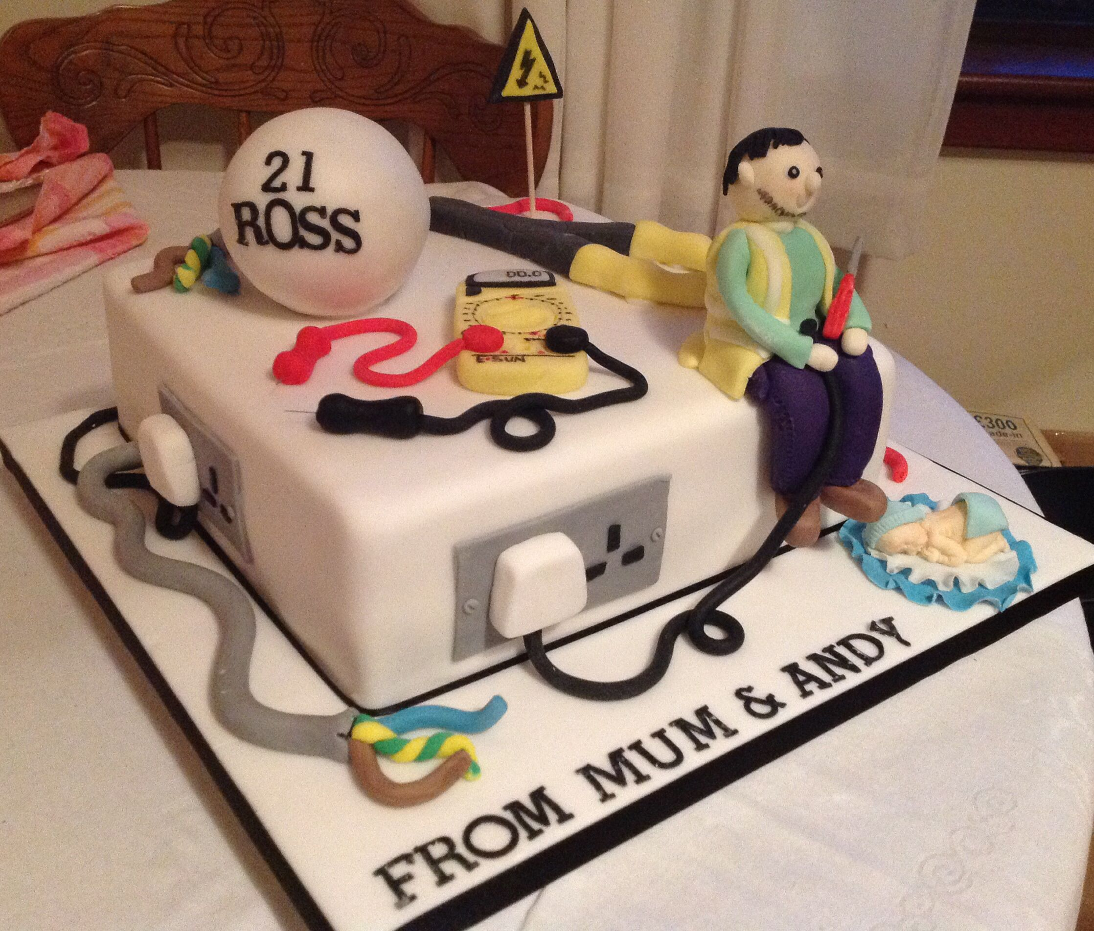 Electricians cake Electrician Cakes Pinterest Cake Character