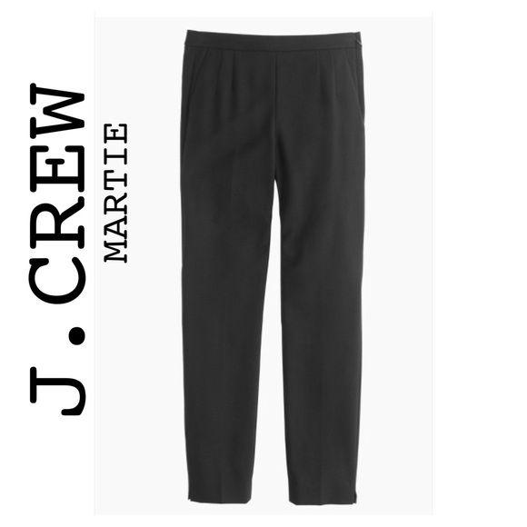 J.Crew Martie Pant Bi-Stretch Wool Black, Sz 6 Super comfortable! Higher rise Martie pant. See description on pic for more details. J. Crew Pants Ankle & Cropped