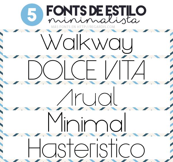5 fonts de estilo minimalista gratis letras para for Estilos de letras