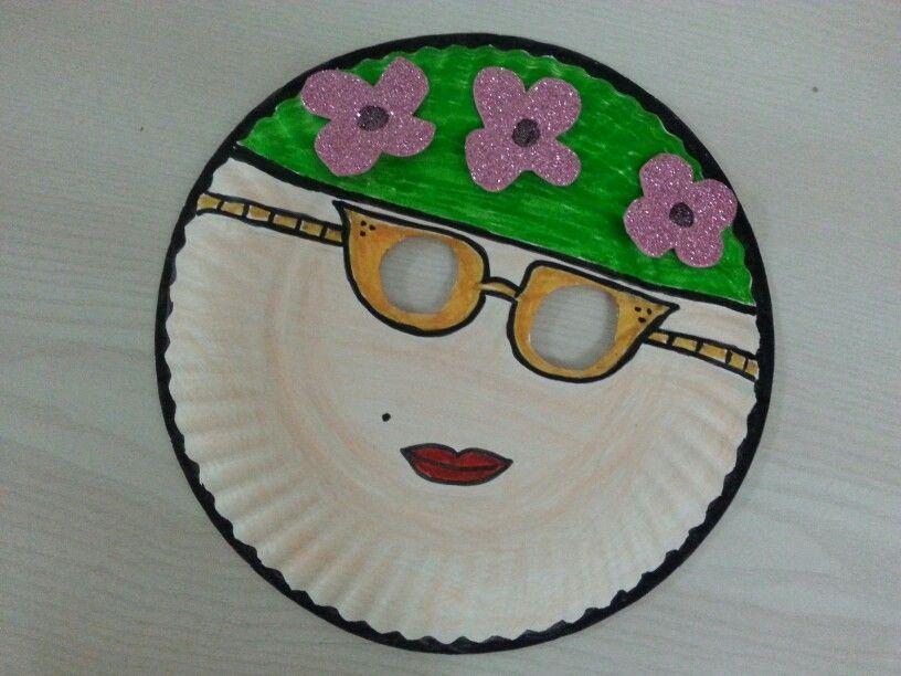 Paper plate craft  circle