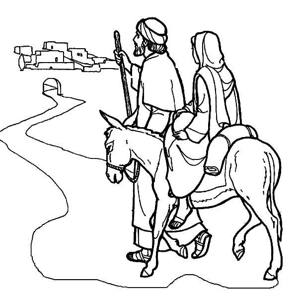 Mary And The Donkey And Joseph Near Bethlehem Coloring Pages Best Place To Color In 2020 Jesus Coloring Pages Coloring Pages Nativity Coloring Pages