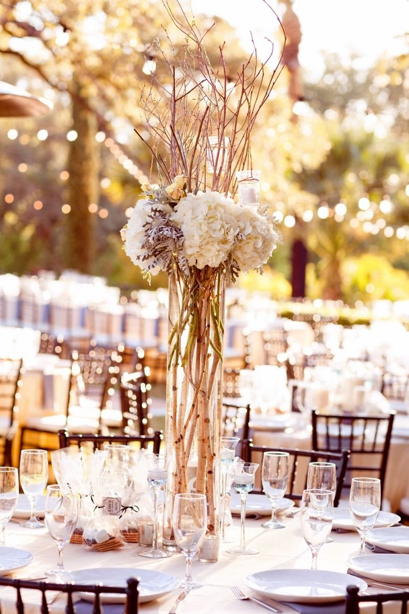 Cheap Center Pieces For Weddings Inexpensive New Wedding Centerpieces Using Ribbon Tall Wed Wedding Centerpieces Wedding Centerpieces Diy Wedding Decorations