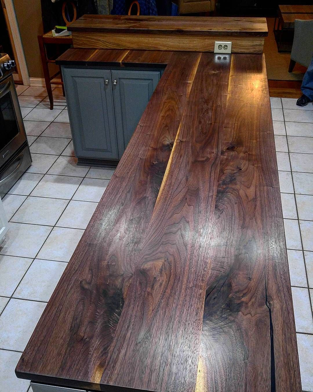 This Waterlox Finished Black Walnut Countertop By Urbn Timber Is