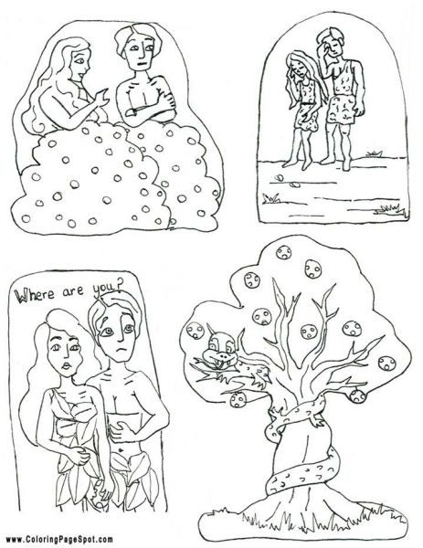 Adam and eve coloring page | Home Bible Lessons | Pinterest ...