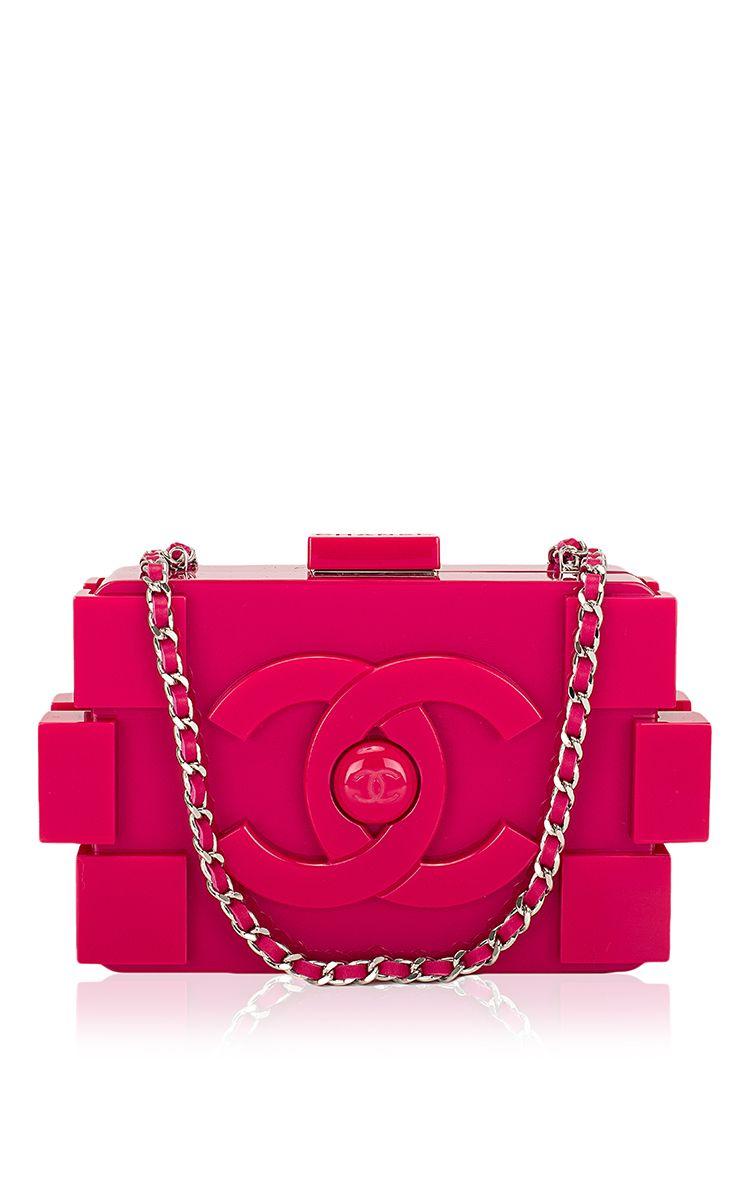 96287fdef87d Madison Avenue Couture - Chanel Fuchsia Pink Lego Clutch Boy Bag - Preorder  now on Moda Operandi