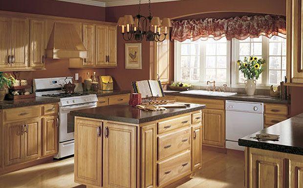 Honey Oak Kitchen Cabinets With Black