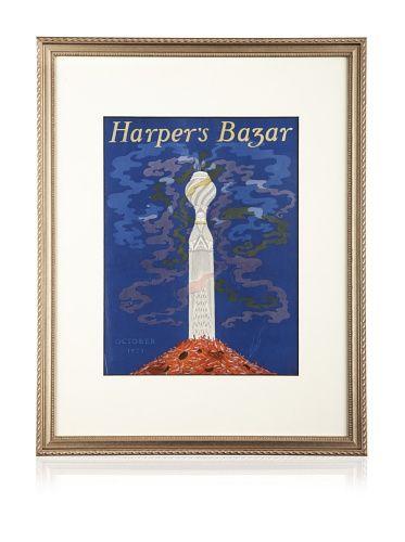 "50% OFF Original Harper\'s Bazaar Cover (Dated 1923) by Erté, 20\"" x 16\"""