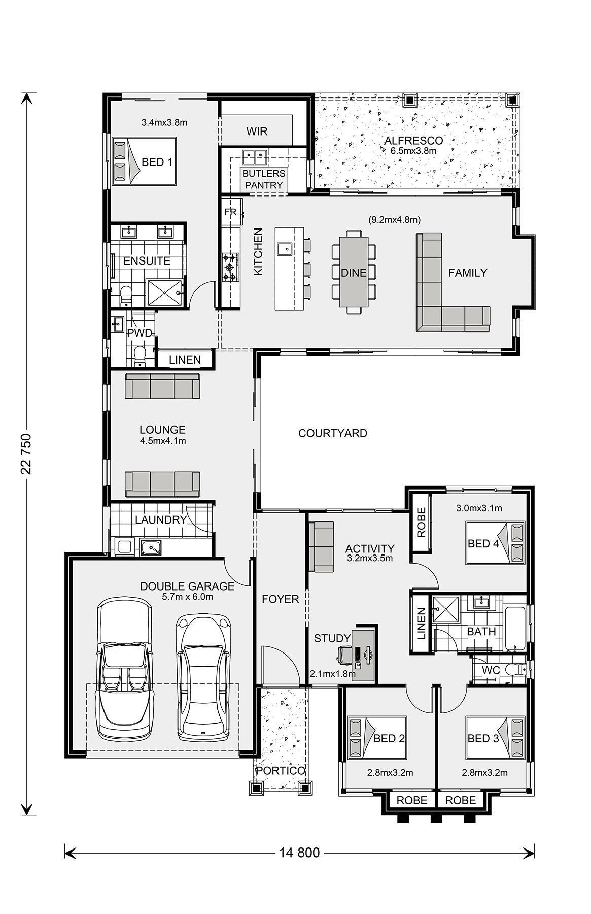 Mandalay 335, Home Designs in | G.J. Gardner Homes in 2020 ...