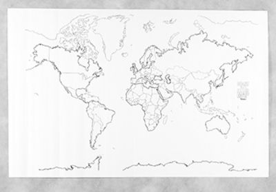 Giant blank world map classroom map homeschool pinterest giant blank world map classroom map gumiabroncs Image collections