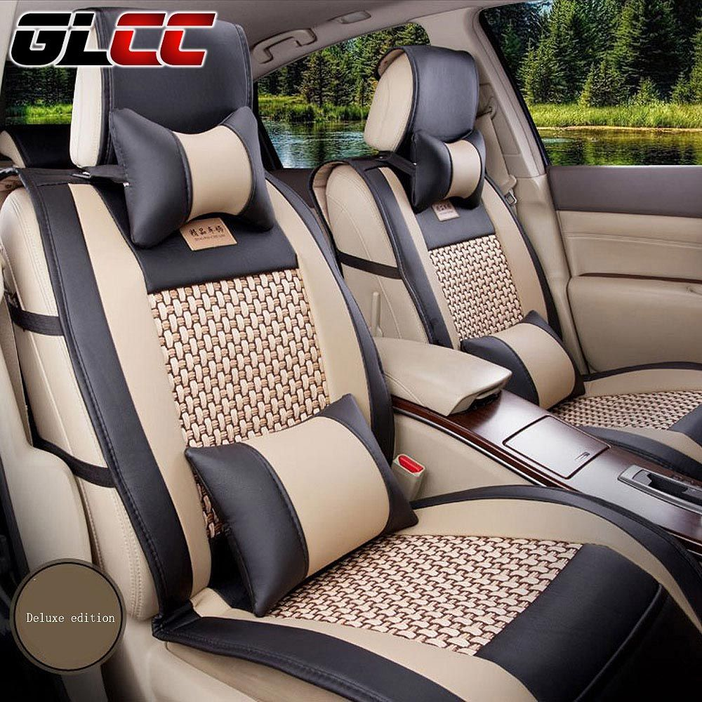 Brand new styling car seat cover luxury leather seat covers front rear complete set universal auto interior