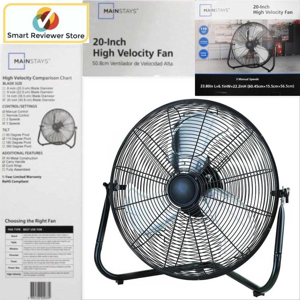 High Velocity Floor Fan 20 Inch