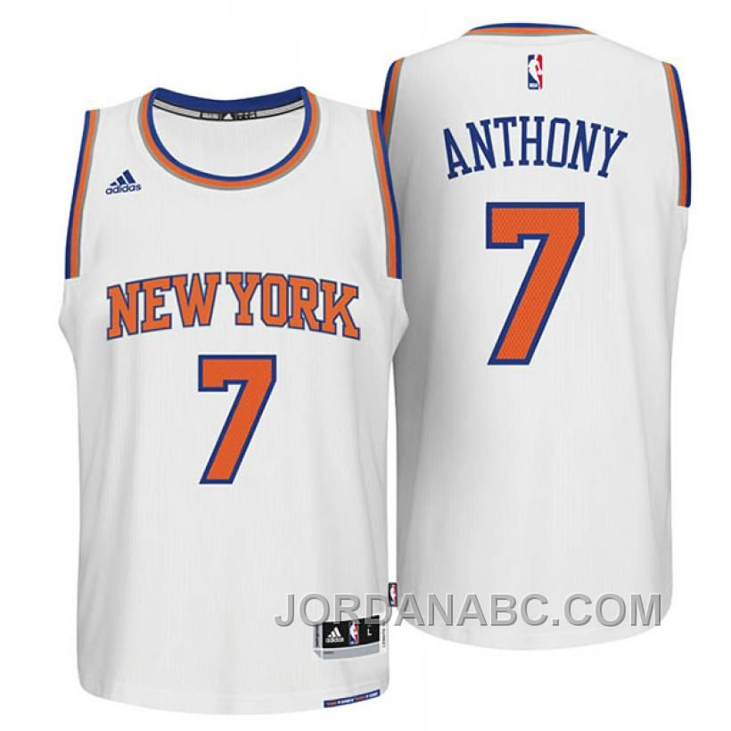 b1861e086 Discover the Carmelo Anthony New York Knicks New Swingman Home White Jersey  Lastest TYFrt group at Footseek. Shop Carmelo Anthony New York Knicks New  ...