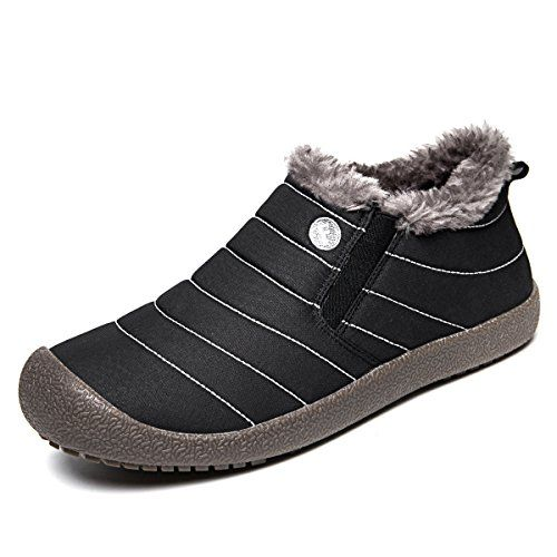 37aa39c4a3e Men s Snow Boots - SITAILE Men Women Fur Lined Outdoor Slippers Slip on Ankle  Snow Boots Winter Waterproof Lightweight Booties   Visit the image link  more ...