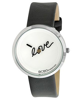 BCBGeneration Watch, Women's Black Leather Strap 36mm GL4179 - Watches - Jewelry & Watches - Macy's
