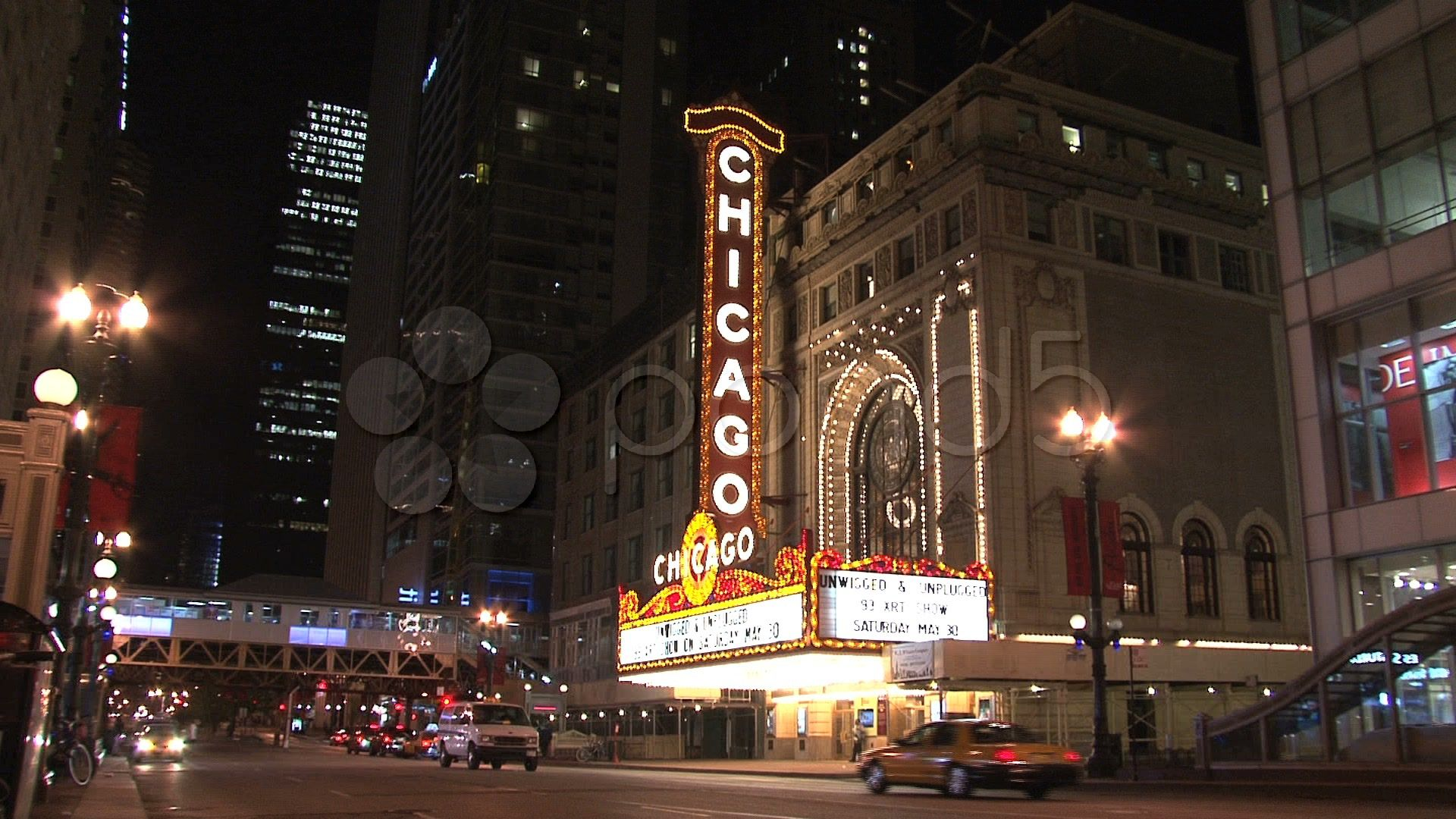 Chicago sign at Night - Stock Footage | by TravelTelly