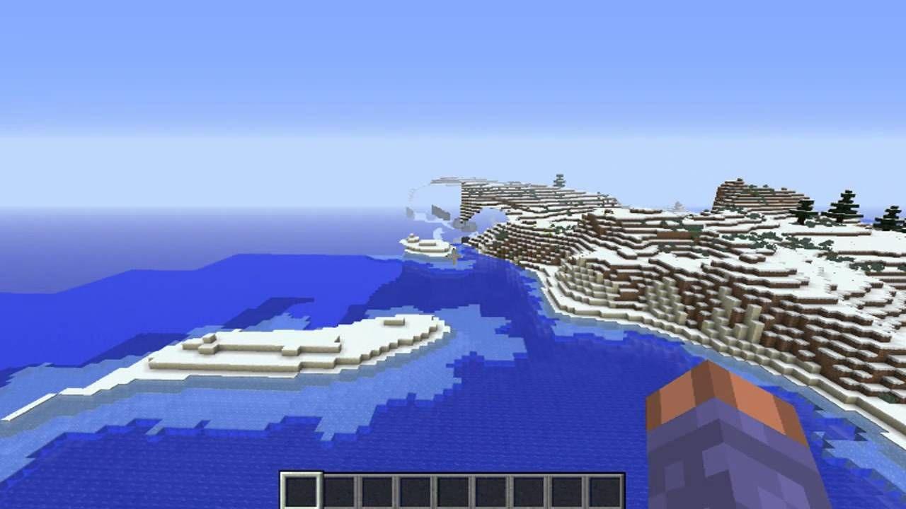 Cool Snow Flat land island Minecraft seed 1.7.10