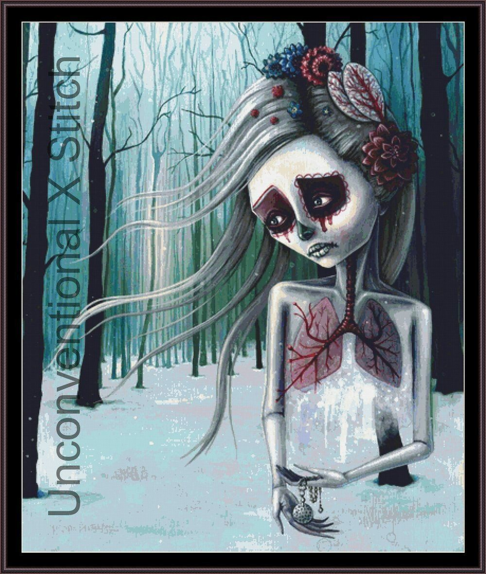 Beautiful Decay Grey Gothic Giclee Canvas Picture Art Decoration