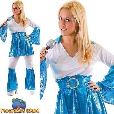 70s Mamma Mia Waterloo Dancing Queen Uk 10 24 Womens Ladies Fancy
