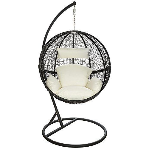 Perfect Home Deluxe Polyrattan H ngesessel Cielo inkl Gestell Sitz und R ckenkissen