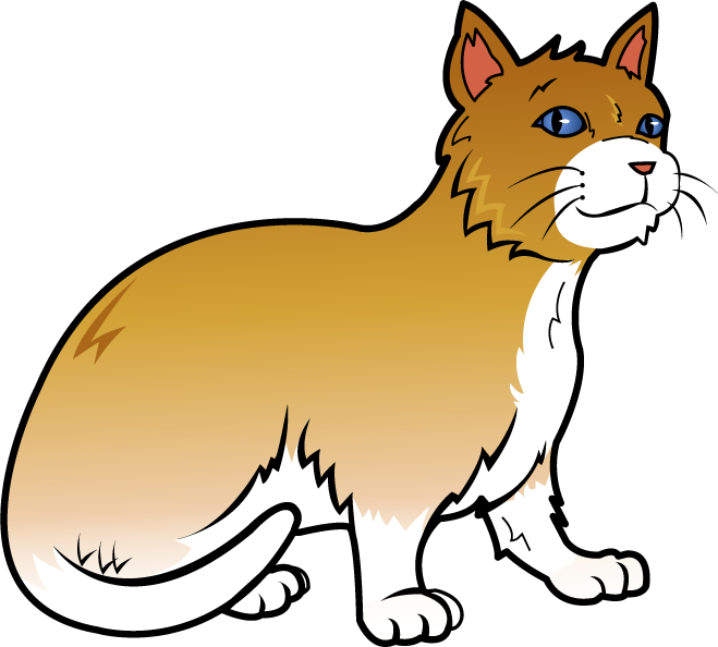 fat cat clip art free clip art animals pets orange cat i rh in pinterest com free clip art cats kittens free clipart birthday cats