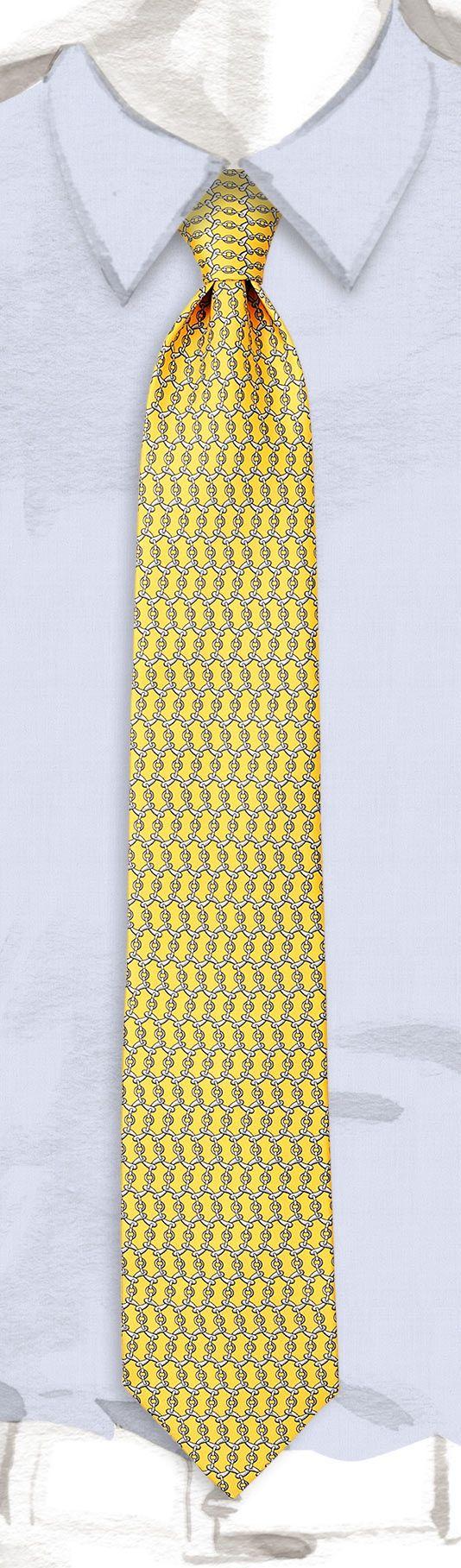 e4ab58c02af4 Ties Hermès Yellow - Printed - Men | Hermès, Official Website ...