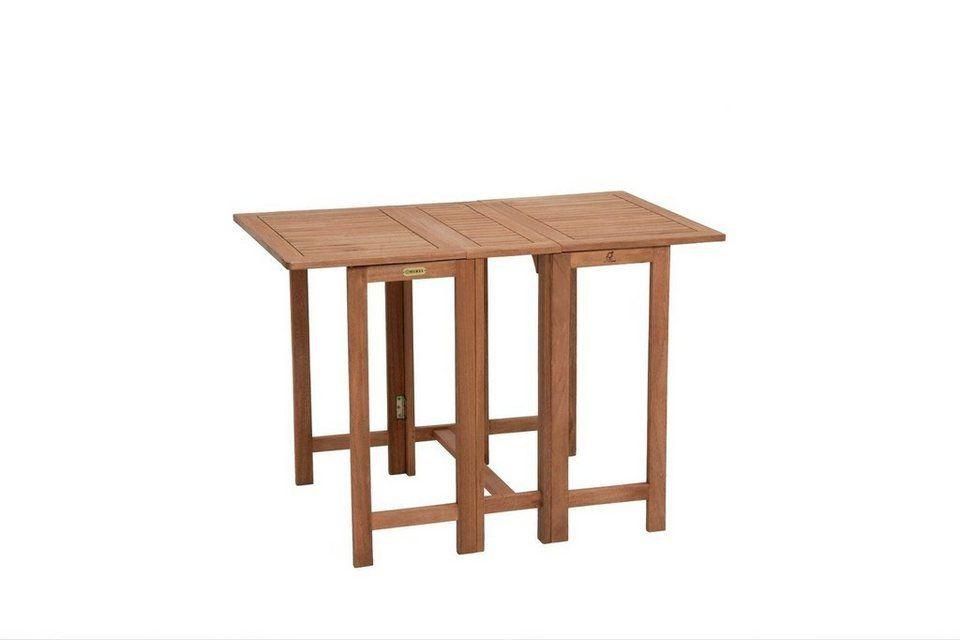 Merxx Gartentisch Holz Eukalyptusholz Klappbar 107x65 Cm