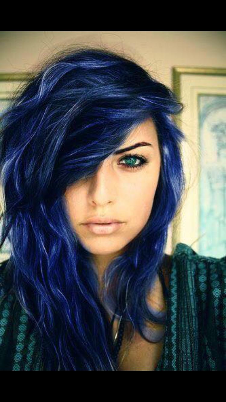 Blue Color Hair Fashion I Like Pinterest Blue Colors And Fashion