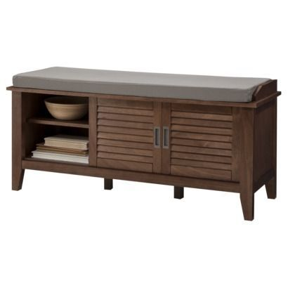 bench with storage door | Threshold™ Storage Bench with Slatted Doors | for my home