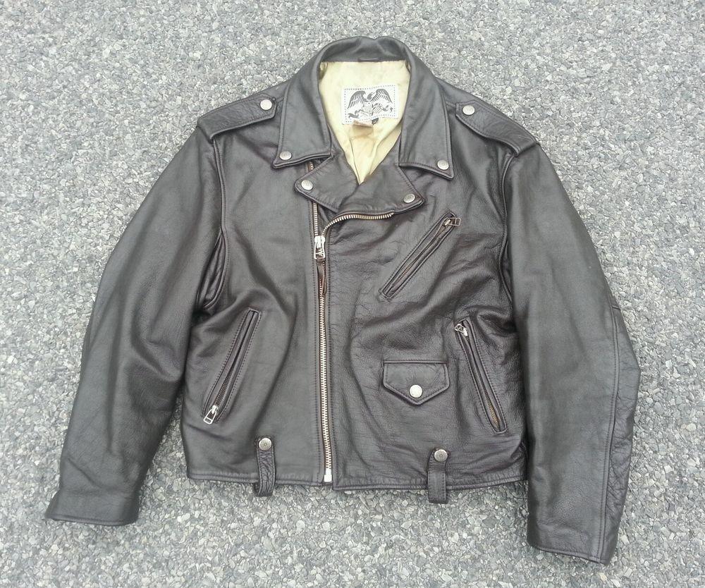 Vintage 80/'s Traditional Biker Motorcycle Jacket