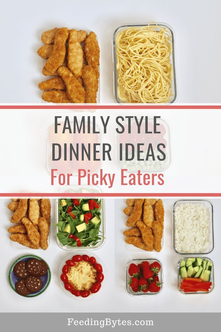 Tired of preparing special meals for your picky eater Here are family style dinner ideas that work for picky eaters with tips on the dos and donts of having family meals...