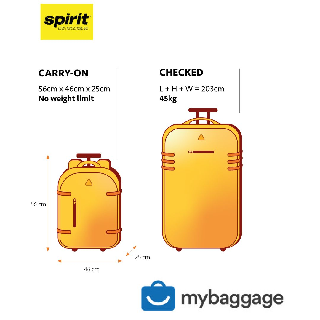 For Spirit Airlines Foldable Travel Duffel Bag Tote Carry
