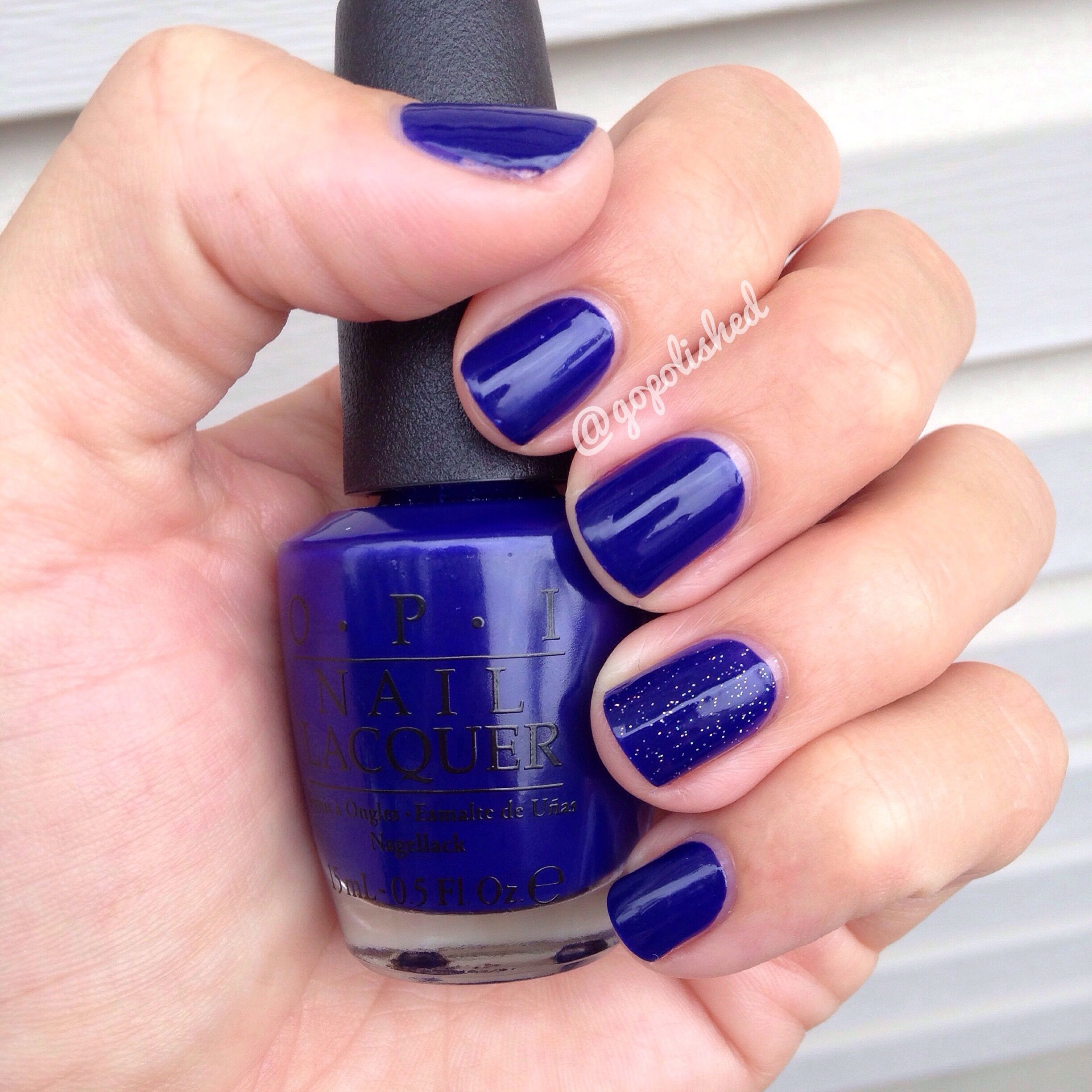Great summer to fall transition nail polish OPIMy Car Has Navy
