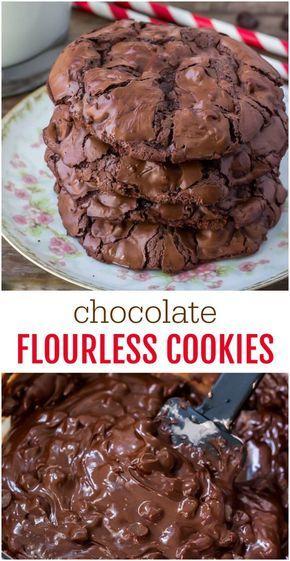 Chocolate Flourless Cookies   Lil' Luna