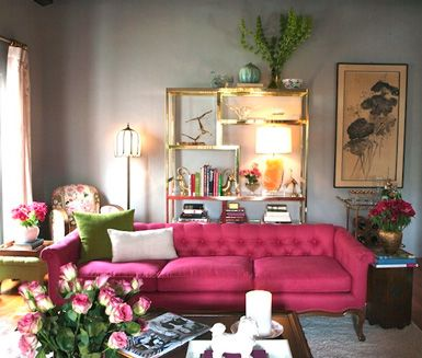 Timeless Trend Tufted Upholstery Pink Sofa Living Room Pink Living Room Pink Couch Living Room