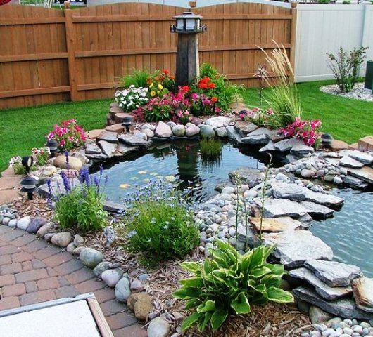 10 Awesome Home Garden Ponds Design Ever  #homegarden #pondgarden #ponddesign #infobelezza