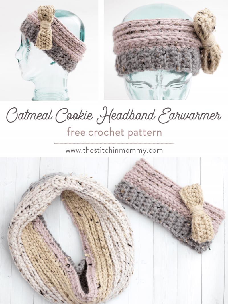 Oatmeal Cookie Headband Earwarmer - Free Crochet Pattern | Proyectos ...