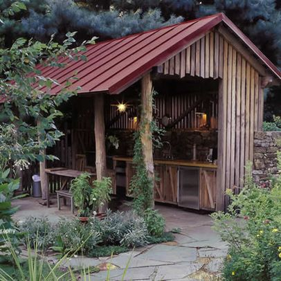garage and shed outdoor cooking area design ideas, pictures